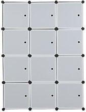 Talkeach - 12 Cube Organizer Stackable Plastic