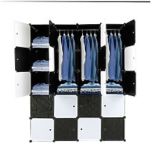 Talkeach - 20 Cube Organizer Stackable Plastic