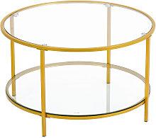 Talkeach - Home furniture round tea table glass