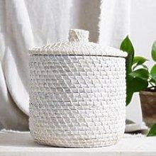 Tall Alibaba Storage Basket, White, One Size