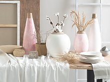 Tall Decorative Vase Pink Ceramic 53 cm Table