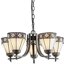Tallahassee 5-Light Shaded Chandelier Rosalind