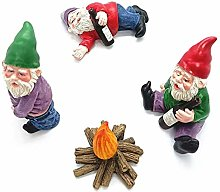 Taloit 4pcs Miniature Garden Gnomes, Cute Fairy