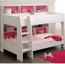 Tam Tam White Wooden Bunk Bed Frame - EU Single