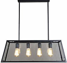 TAM88 Industrial Retro Ceiling Pendant Light,Black