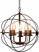 TAM88 Industrial Retro Iron Pendant Light,Round