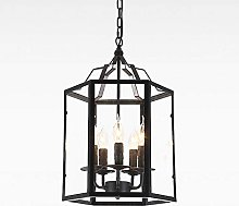 TAM88 Industrial Retro Pendant Light,Black Metal