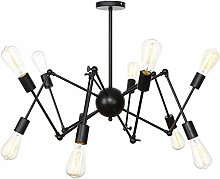 TAM88 Retro Iron Chandelier,Black Industrial