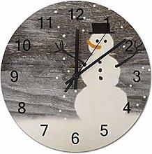 Tamengi Christmas Dancing Snowmen Round Wall