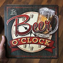Tamengi How Much Time Beer O'clock Sign Beer