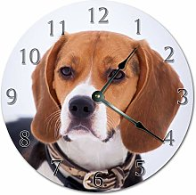 Tamengi Wall Clock, Adorable BEAGLE Dog Clock