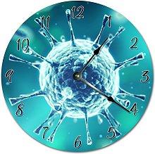 Tamengi Wall Clock, Deadly VIRUS Clock BLUE Clock