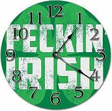 Tamengi Wall Clock, FECKIN IRISH Clock Living Room