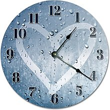 Tamengi Wall Clock, HEART SHAPED from RAINDROP
