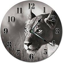 Tamengi Wall Clock, LIONESS Clock Living Room
