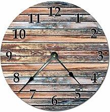 Tamengi Wall Clock,OLD BARN WOOD Clock Extra Large