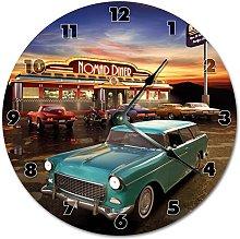 Tamengi Wall Clock, RETRO 1950'S Clock Living