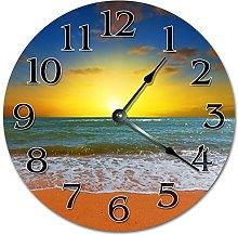 Tamengi Wall Clock, SUNSET On A BEACH Clock Living