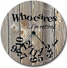 Tamengi Wall Clock, Wall Clock WHO CARES Im
