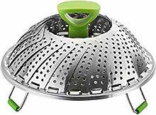 Tamkyo Steel Food Steamer Basket Steamer Insert