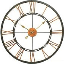 Tampica Metal Wall Clock In Black And Gold