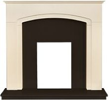 Tamworth Fireplace with Downlights in Cream &