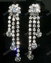 TANAMI Comfy Clip ON Rhinestone Crystal Chandelier