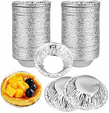 TANCUDER 250 PCS Foil Trays Muffin Cases