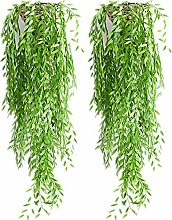 Tancyechy 2pieces Artificial Hanging Plants Willow