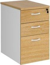Tandem Deluxe Desk High Pedestal, Oak