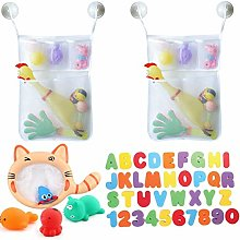 Tangger 2PCS Bath Toy Organiser Bag Large,Mesh