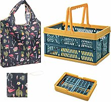 TANGGER Plastic Folding Shopping Basket Small with