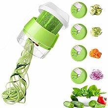 TangTag Handheld Spiralizer Vegetable Slicer, 4 in
