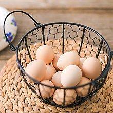 TANSTAN Wire Egg Basket, Metal Egg Storage Basket
