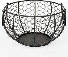 TANSTAN Wire Egg Storage Basket with Old Wooden