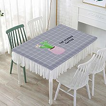 Tanxi Decorative Tablecloth Wipeable Rectangle