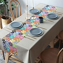 Tanxi Tablecloth Wipeable Plain Rectangle
