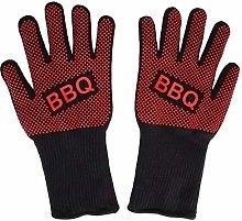 TAOJI 2pcs Fireproof Gloves Barbeque Kevlar 500