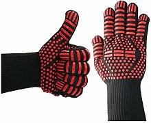 TAOJI A Pair Fireproof Glove Barbeque Kevlar 500