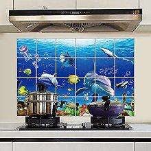TAOYUE 3D Anti-Oil Kitchen Wall Stickers Cabinet