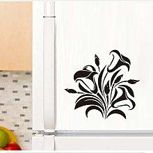 TAOYUE Black Flower Vine Wall Sticker Window