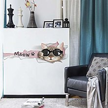 TAOYUE cat Wall Sticker for Living Room Cabinet