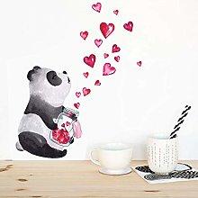 TAOYUE Hand Drawn Panda Wall Sticker Art Mural