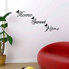 TAOYUE Home Sweet Home Wall Sticker Butterfly