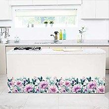 TAOYUE Purple Flower Baseboard Wall Sticker Living