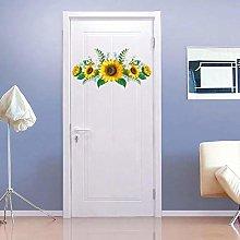 TAOYUE Sunflower Flowers Wall Sticker Living Room