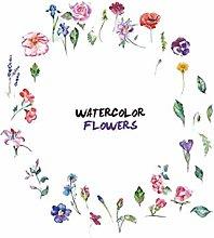 TAOYUE Watercolor Flowers Combination Wall Sticker