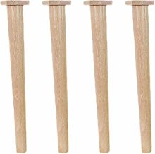 Tapered 4pcs Sofa Feet, Straight Solid Wood