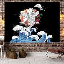 Tapestries,Fish Series Wall Hanging Art Curtain