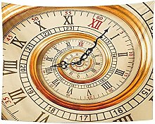 Tapestry Antique Old Clock Abstract Fractal Spiral